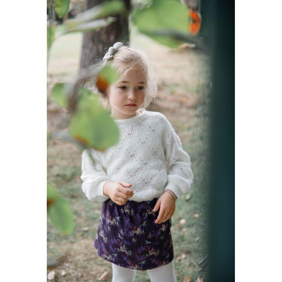 Jupe Nanette Tigre violette